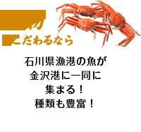 地物にこだわるなら 石川県漁港の魚が金沢港に一同に集まる!種類も豊富!
