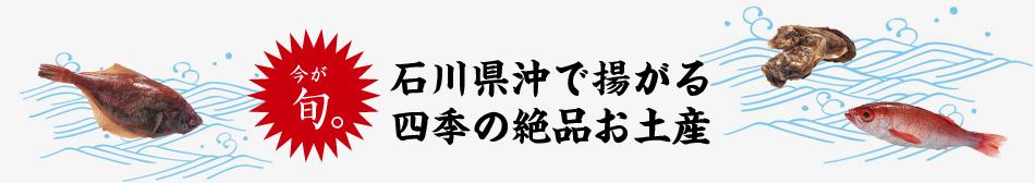 今が旬!石川県沖で揚がる四季の絶品お土産