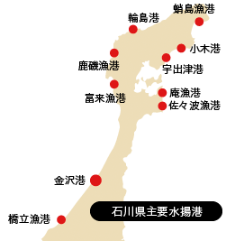 石川県主要水揚港